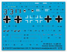 1/72 Decals für eine Bf 109 F-2 Lt. Herbert Schramm 2554