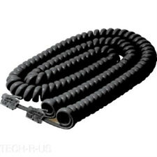 Steren Coiled Curly Phone Handset Cable 25FT Black for Aastra VoIP Telephone