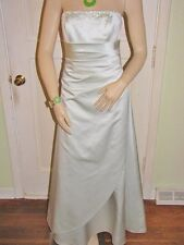 Davids Bridal Bride Dress Long Mint Green Strapless Gown Size 4