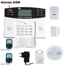 Kit Alarme Maison Sans Fil GSM Appel Automatique Détecteur De Fumée Intrusion 1