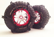 RC Tire Chain Fits Traxxas Slash 1/10 Scale Tires 2 BLACK Snow Chains
