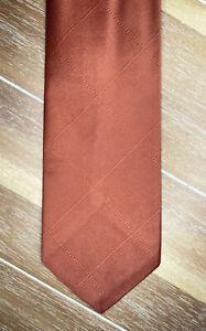 Vintage Pride of England Auards Nashua Orange Mens Necktie Import