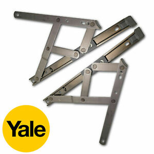 Yale uPVC Window Hinge Double Glazing Friction Stay PVC 13mm & 17mm Pair