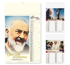 Calendario 2022 da Muro Illustrato San Pio e Papa Francesco 3 Modelli Parete