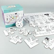 Giant We Love Dogs Colour In Jigsaw Puzzle 48 Piece Childrens Kids Animal Gift