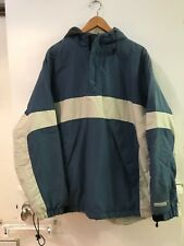 Old Navy Pullover Fleece Lined Nylon Blue Hooded Jacket Mens size L