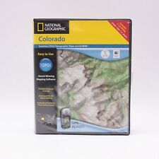 National Geographic  MAC PC TOPO! Colorado Topographical Map CD ROM 3.3.3