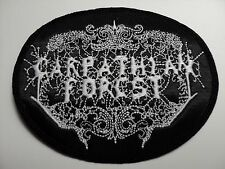 CARPATHIAN FOREST  ROUND LOGO EMBROIDERED PATCH