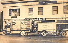 Portland OR Steigerwald Dairy Milk & Cream Delivery Trucks RPPC Postcard