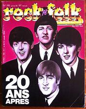 Rock & Folk n°192 du 1/1983; Beatles; 20 ans aprés/ Led Zeppelin/ Henri Salvador