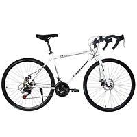 Begasso Simanos Aluminum Full Suspension Road Bike 21 Speed Disc Brakes,700c