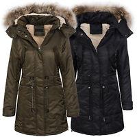 Ladies Winter Jacket Coat Outdoor Cozy Lining Warm Weatherproof Hood with fur
