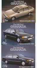 Ford Granada GL Ghia internal & external x 6 original Postcards Nos. SP268-273