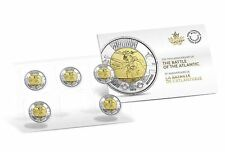 2016 CANADA BATTLE OF THE ATLANTIC UNCIRCULATED MINT SEALED 5 COIN PACK UNC