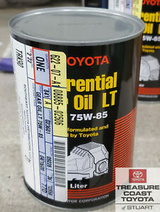 NEW OEM TOYOTA & LEXUS 1 LITER DIFFERENTIAL GEAR OIL GL-5 75W-85 QTY 1