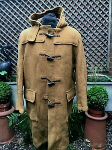 GLOVERALL tradition English Duffle Coat  brown rust wool men's size XL