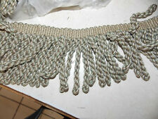 1 Yard of Green Beige Taupe 5 inch Rope Bullion Fringe Trim