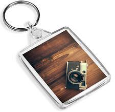 Vintage Wood Camera Keyring Photo Retro Fun Men keyring Gift #14518