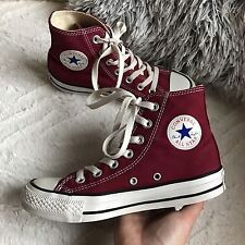 Converse all star red burgundy size uk 3 women's shoes trainers