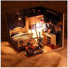 Un artigianato FAI DA TE in miniatura casa bambole-Coperchio Trasparente & Leggero Legno Dollhouse-UK STOCK