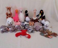 Lot Of 11 Ty Beanie Babies - Kangaroo, Flamingo, Ostrich, Cockatoo & More!