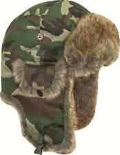 MILITARY FUR TRAPPER HAT Mens hunters DPM wood camo warm winter cossack Gents XL