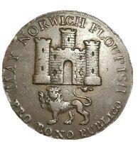 1792🔹️Norfolk Norwich Conder 🔹️ Halfpenny Token Coin