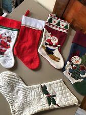 Holiday Christmas Stockings Decor Set of 5