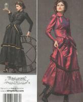 NEW Simplicity 2207 Jacket Bustle Skirt Steampunk Dress Costume Pattern 14-20