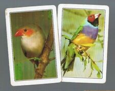 COLES  SWAP CARDS* 2 VINTAGE  WOOLWORTHS  PAIR OF BIRDS        WHITE EDGE