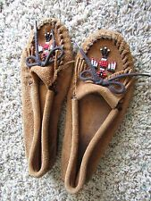 MINNETONKA SUEDE MOCCASIN SHOES  WOMENS 9.5 COGNAC SUEDE SLIP ONS FREE SHIP