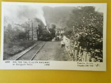 POSTCARD RP ON THE TAL-YLLLYN RAILWAY AT DOLGOCH FALLS C1925