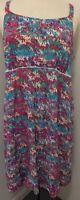 PAPAYA WEEKEND Blue Pink Floral Summer Dress Size 20