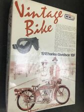 aoshima 1/16 vintage bike 1918 harley davidson 18f model kit contents sealed