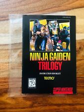 Ninja Gaiden Trilogy Super Nintendo SNES Manual Instruction Booklet Only EXCLNT