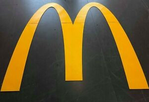 PREFORMED YELLOW THERMOPLASTIC McDONALDS ROAD SIGN TORCH-ON, REFLECTIVE MARKING