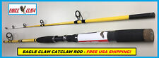 EAGLE CLAW CATCLAW 7' Fiberglass Spinning Rod #CC702MHS FREE USA SHIP!