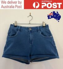 CUTE ROYAL BLUE DENIM SHORTS - CASUAL MID-RISE - SUPRE SIZE 10 - FREE POSTAGE