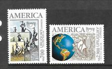 URUGUAY Sc 1420-21 NH issue of 1992 - DISCOVERY OF AMERICA
