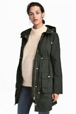 WOMEN'S PARKA BY H&M SIZE MEDIUM IN DARK GREEN, NEW WITH TAGS
