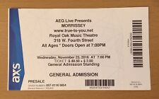 2016 Morrissey Detroit Concert Ticket Stub How Soon Is Now The Smiths Wpinoyb