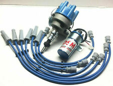 Ford 6 250 2V Pursuit 6cyl Electronic Distributor And Coil Leads FREE SHIPPING