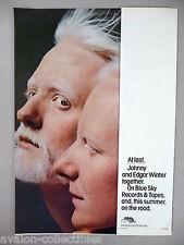Johnny & Edgar Winter PRINT AD - 1976