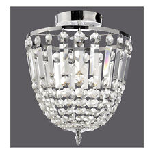 Leuchten Direkt Deckenleuchte »Kamea« Glas Kristalloptik 1xE14 Chrom Neu H187