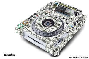 Skin Decal Sticker Wrap for Pioneer CDJ 2000 Turntable DJ Mixer Pro Audio BALLIN