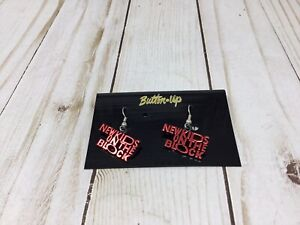 New Kids On The Block NKOTB Earrings RED AND BLACK NEW