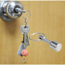 2 Super-Strong Neodymium Pocket Chain Split Ring Keyrings Magnet Holder