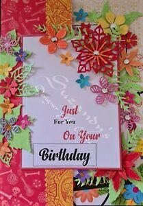ANY AGE LADIES BIRTHDAY DESIGNER GIFT CARD