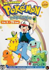 ANIME DVD POKEMON Indigo League Vol.1-79 End Region All ENGLISH DUB + FREE ANIME