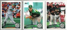 2011 Topps 16-card Oakland A's Baseball Team Set    Gio Gonzalez   Coco Crisp
